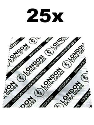 Preservativi London (25 pezzi) - extra grandi