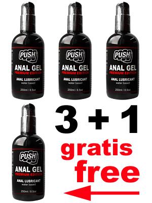 3 + 1 PUSH Lubrificante Anale Gel Premium Edition 250 ml