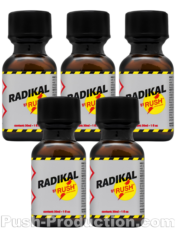 5 x RADIKAL RUSH big square bottle - PACK