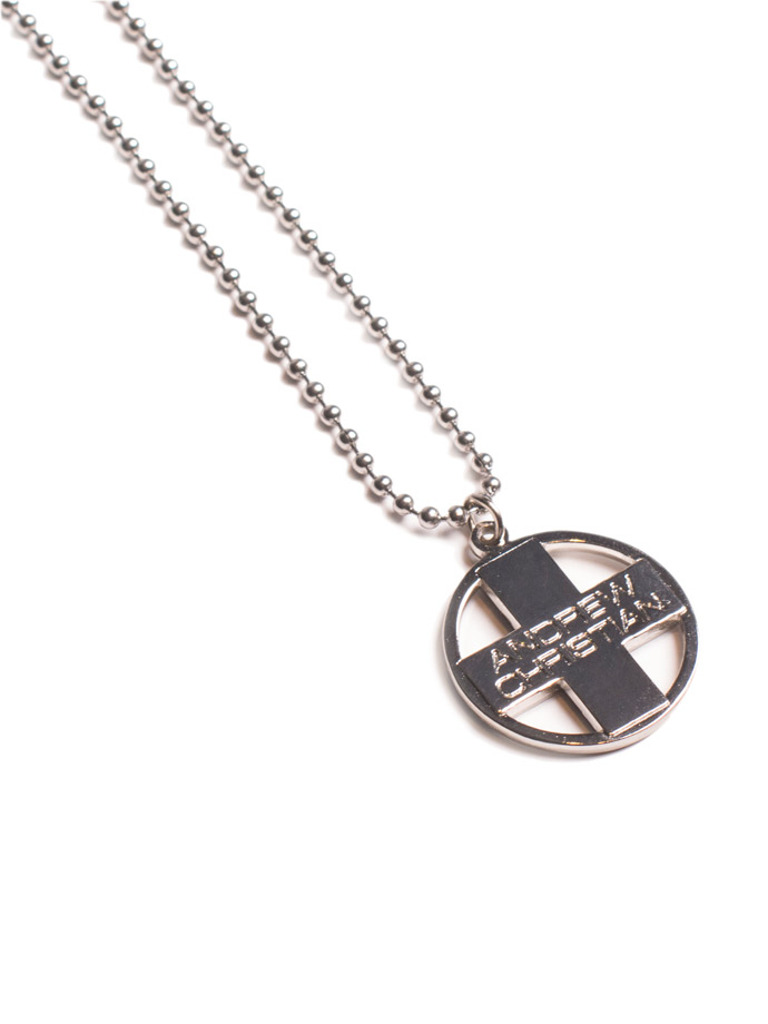 Andrew Christian - Cross Pendant Designer Necklace Silver