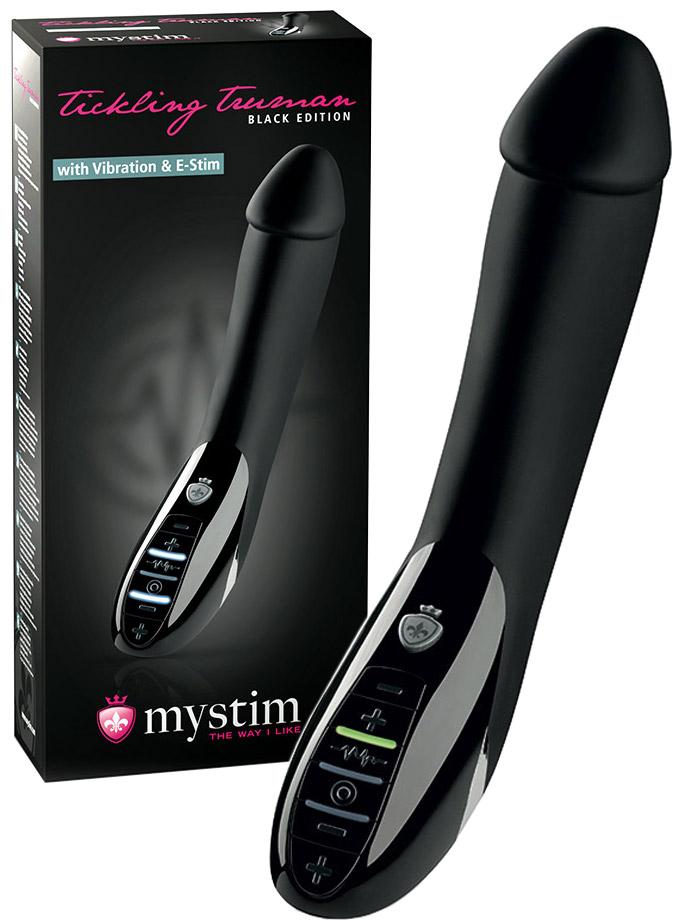 Mystim - Tickling Truman E-Stim con Vibrazione - Black Edition
