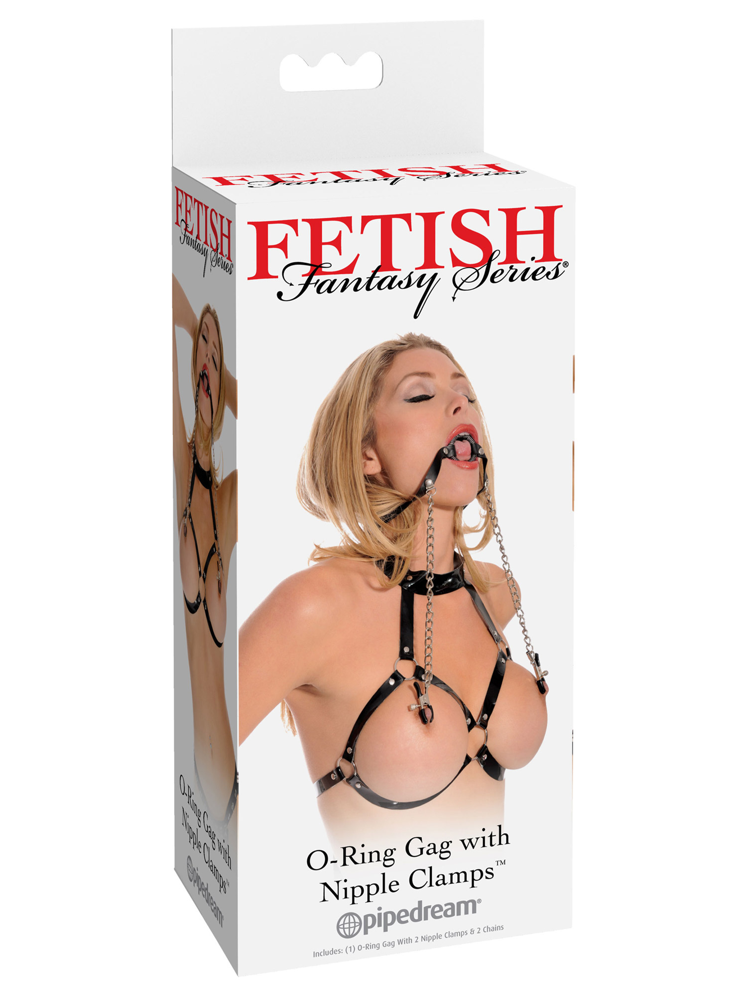 Fetish Fantasy - O-Ring con mollette per capezzoli
