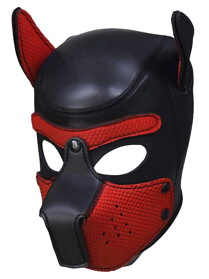 Pupplay Dog Mask - Black/Red