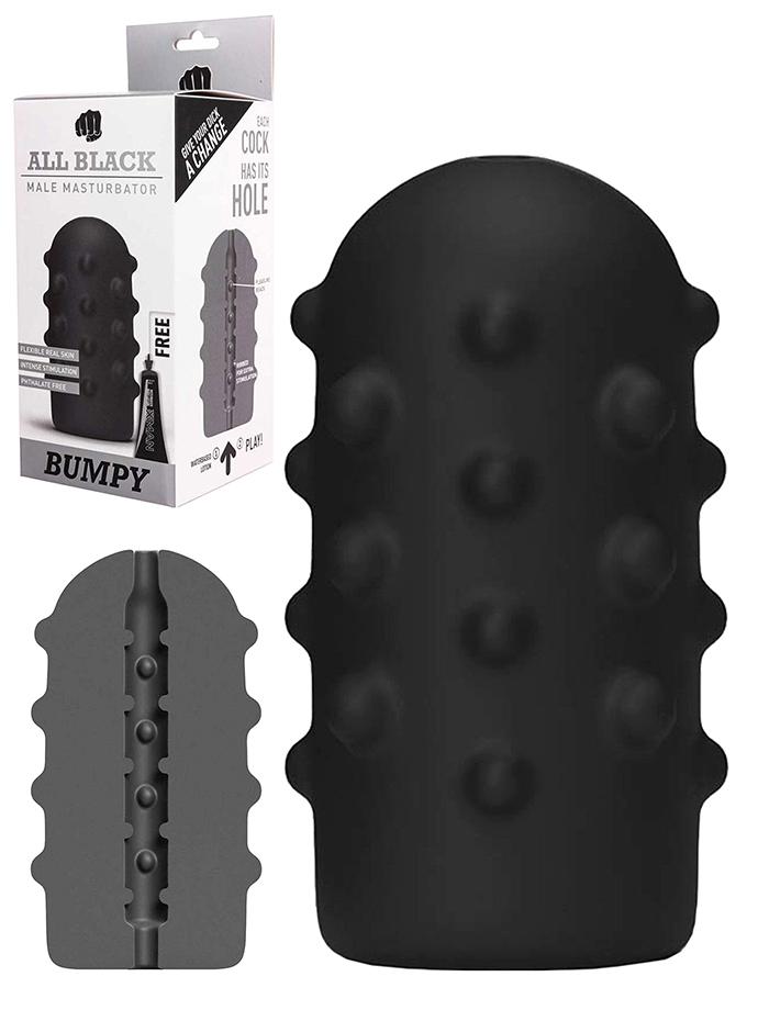 All Black - Masturbatore in Real Skin Touch - Bumpy