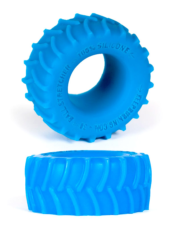 Burning Wheels 100% Silicone Cockring CK02 blu