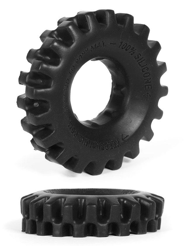 Burning Wheels 100% Silicone Cockring CK03 nero