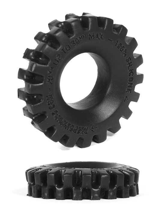 Burning Wheels 100% Silicone Cockring CK05 nero