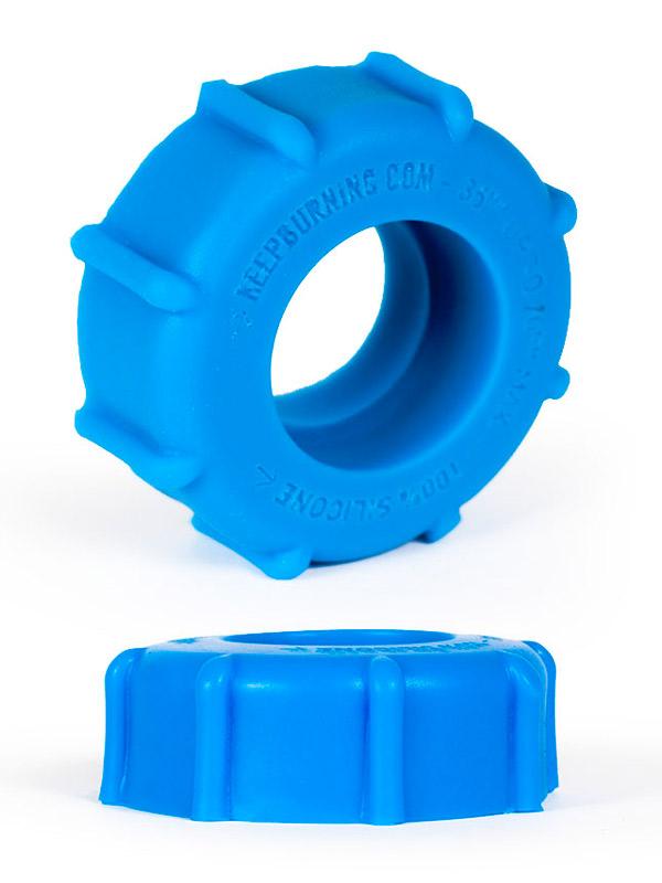 Burning Wheels 100% Silicone Cockring CK08 blu