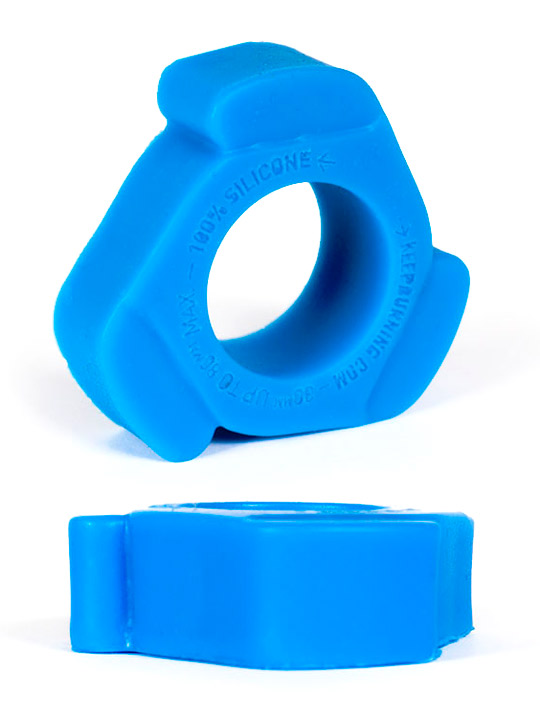 Burning Wheels 100% Silicone Cockring CK10 blu