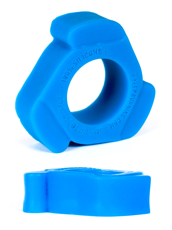 Burning Wheels 100% Silicone Cockring CK11 blu