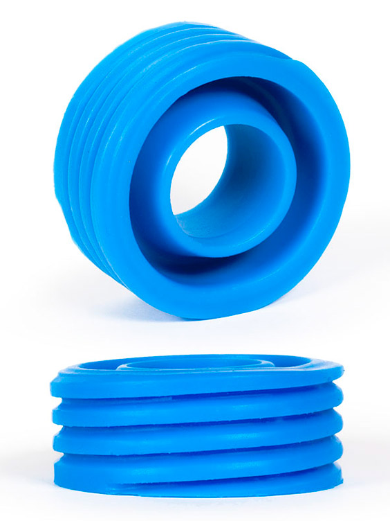 Burning Wheels 100% Silicone Cockring CK12 blu