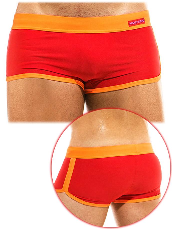 Modus Vivendi - Mix & Match Boxer/ Costume da Bagno - Rosso