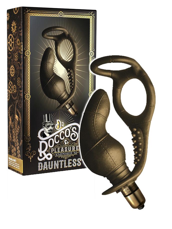 Dr. Roccos - Dauntless - Massaggiatore Prostata -Doppio Cockring