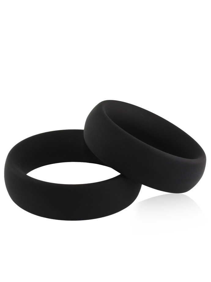 Duo Set Donut Cockring in Silicone