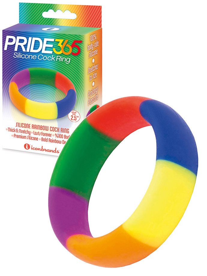 Pride 365 - Rainbow Silicone Cock Ring