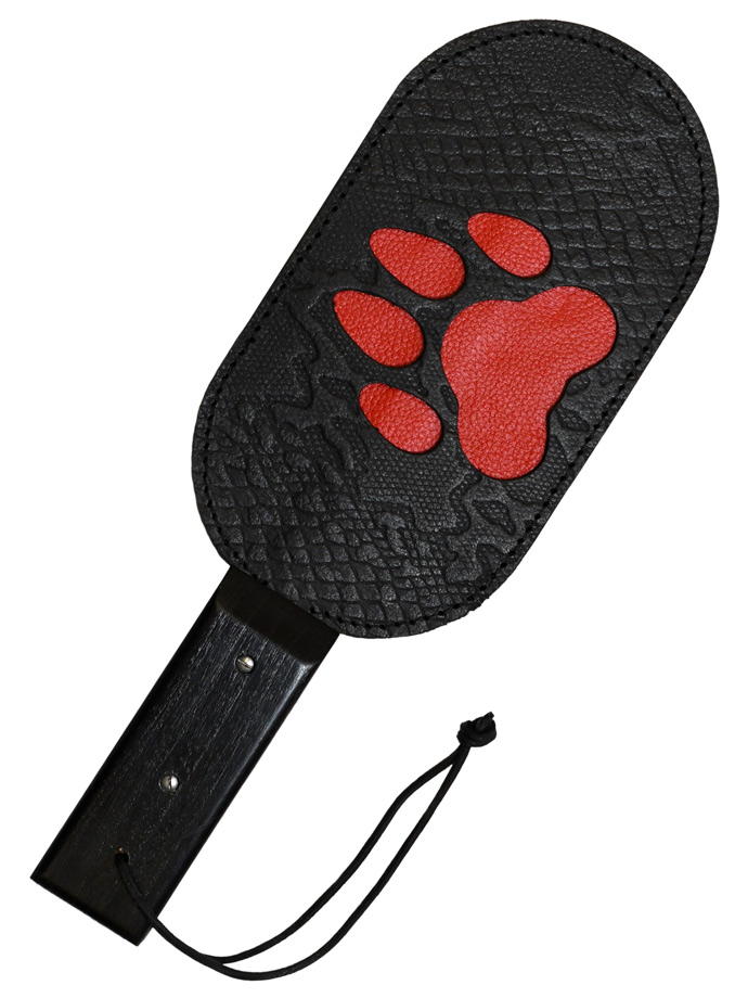 Puppy Paw Genuine Leather Paddle with Red Paw
