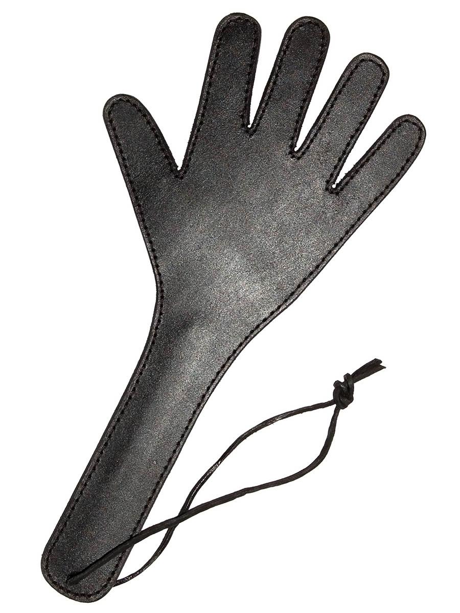 Sculacciatore in cuoio a forma di mano