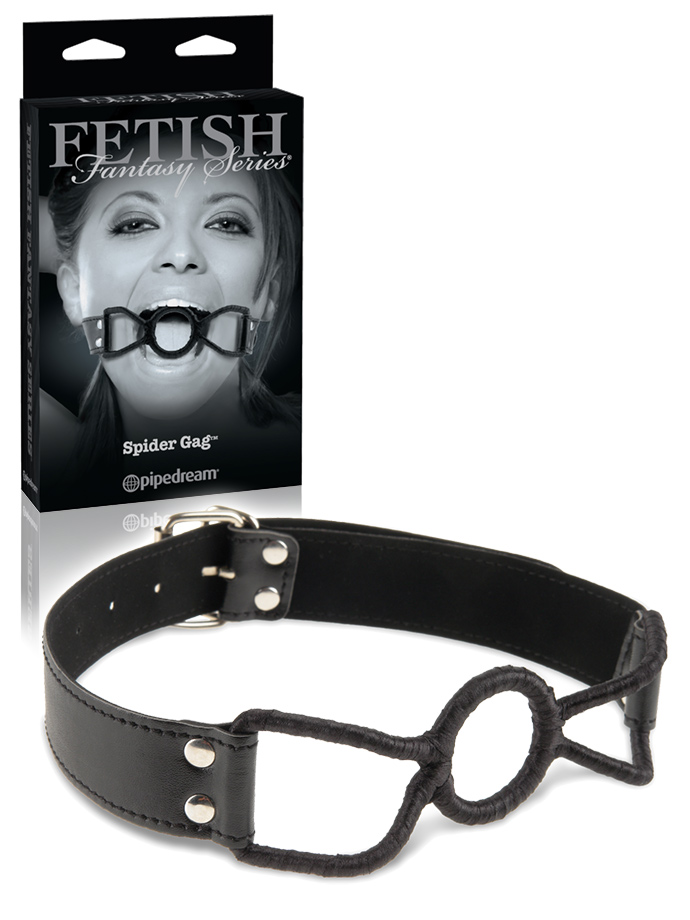 Fetish Fantasy - Spider Gag with Vinyl Strap - Black