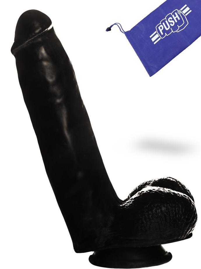 Penis Dildo Push Black 16 cm  con ventosa