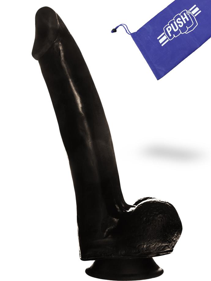Dildo Nero Push 17 cm con ventosa