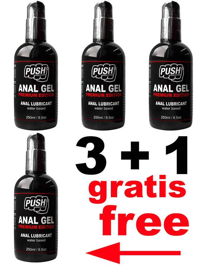3 + 1 PUSH Lubrificante Anale Gel Premium Edition 250 ml