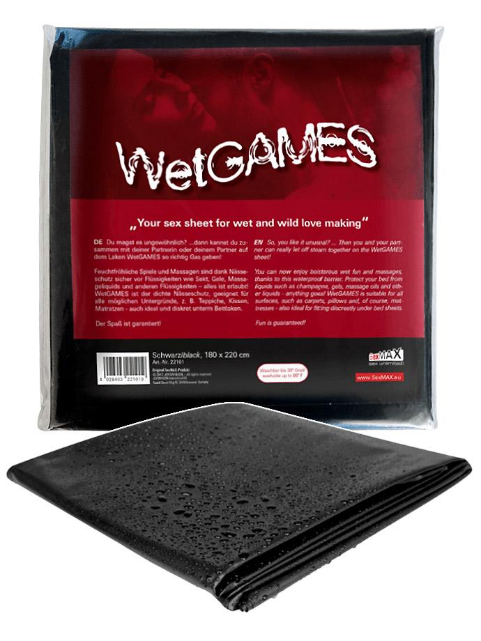 Lenzuolo Wet Games - 180x220 cm, nero