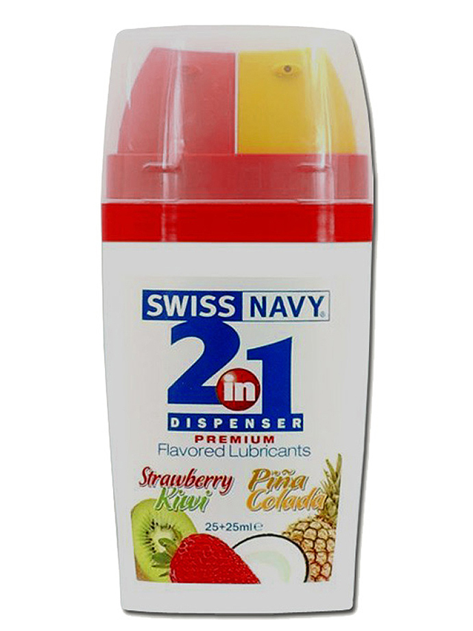 Lubrificante aromatizzato Swiss Navy 2 in 1 – fragola e kiwi/piñ