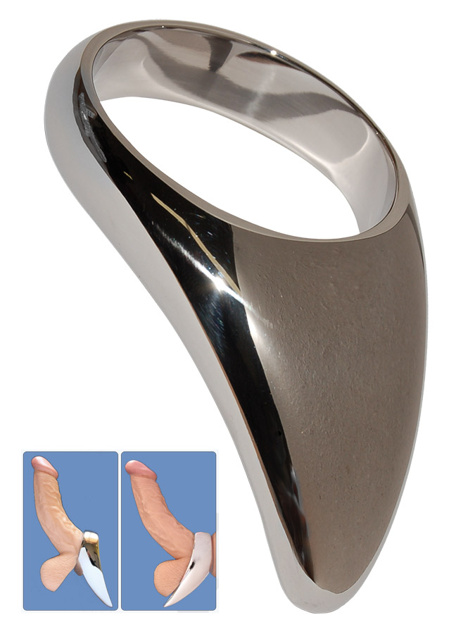 Teardrop Cock Ring in acciaio temperato - 50mm