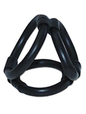 Tri Ring Cock Cage - nero