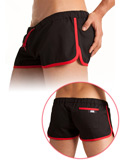 Barcode Gym Short nero/rosso