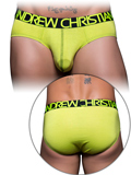 Andrew Christian - Happy Tagless Cotton Stretch Brief - Lime