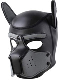 Pupplay Dog Mask - Black/Grey