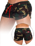 Barcode Gym Short Gibson Green/Camouflage