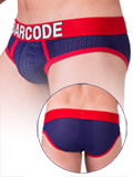 Barcode Mesh Brief Twenty 9 - navy/red