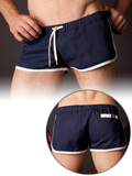 Barcode Gym Short navy/bianco