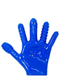 Finger-Fuck Textured Glove - Blue