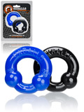 Ultraballs 2-Pack Cockrings Black and Blue
